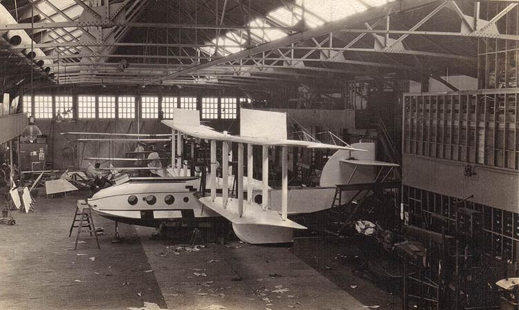 Aeromarine factory - construction of a Model 75