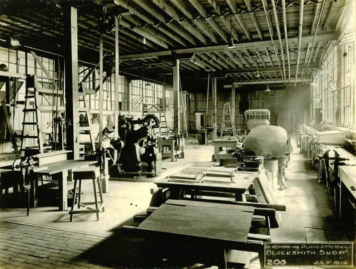 Aeromarine factory - Blacksmith shop