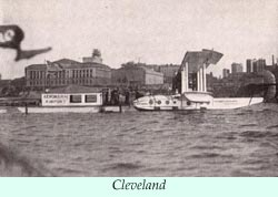 To larger photo of a flying boat at Cleveland