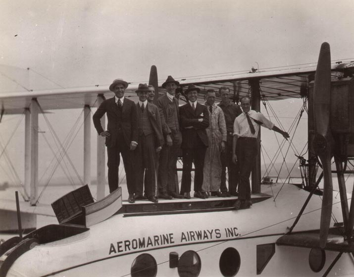 Aeromarine Model 75 'Santa Maria' with C.F. Redden and Ed Musick among others