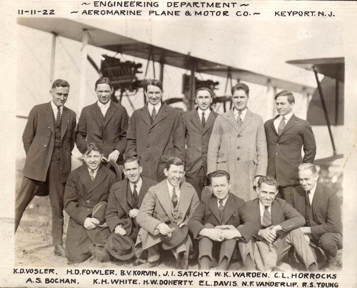 Aeromarine Plane and Motor Co. - Engineering Dept., Nov 1922