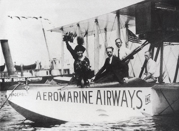 Aeromarine Model 85 'Vanderbilt' with Harry Bruno and Ed Musick