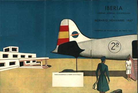 Portadas de folletos vintage de Iberia [1]