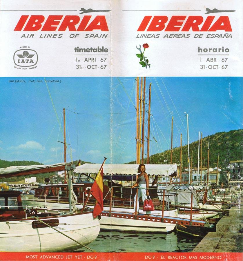 Portadas de folletos vintage de Iberia [2]