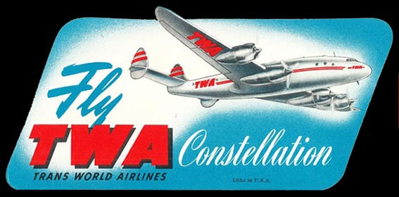 Trans World Airlines luggage tag - 1950