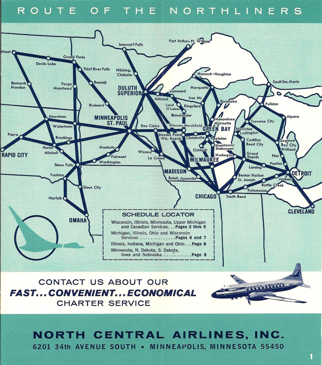 North Central Airlines - Wisconsin Central Airlines on air florida route map, southwest airtran route map, southern airways route map, british airways route map, south west route map, britannia airways route map, south west airlines seat map, braniff international route map, south west airline from seattle map, southwest airlines flight routes map,