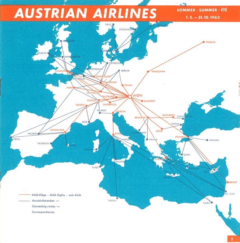 Austrian Airlines destinations