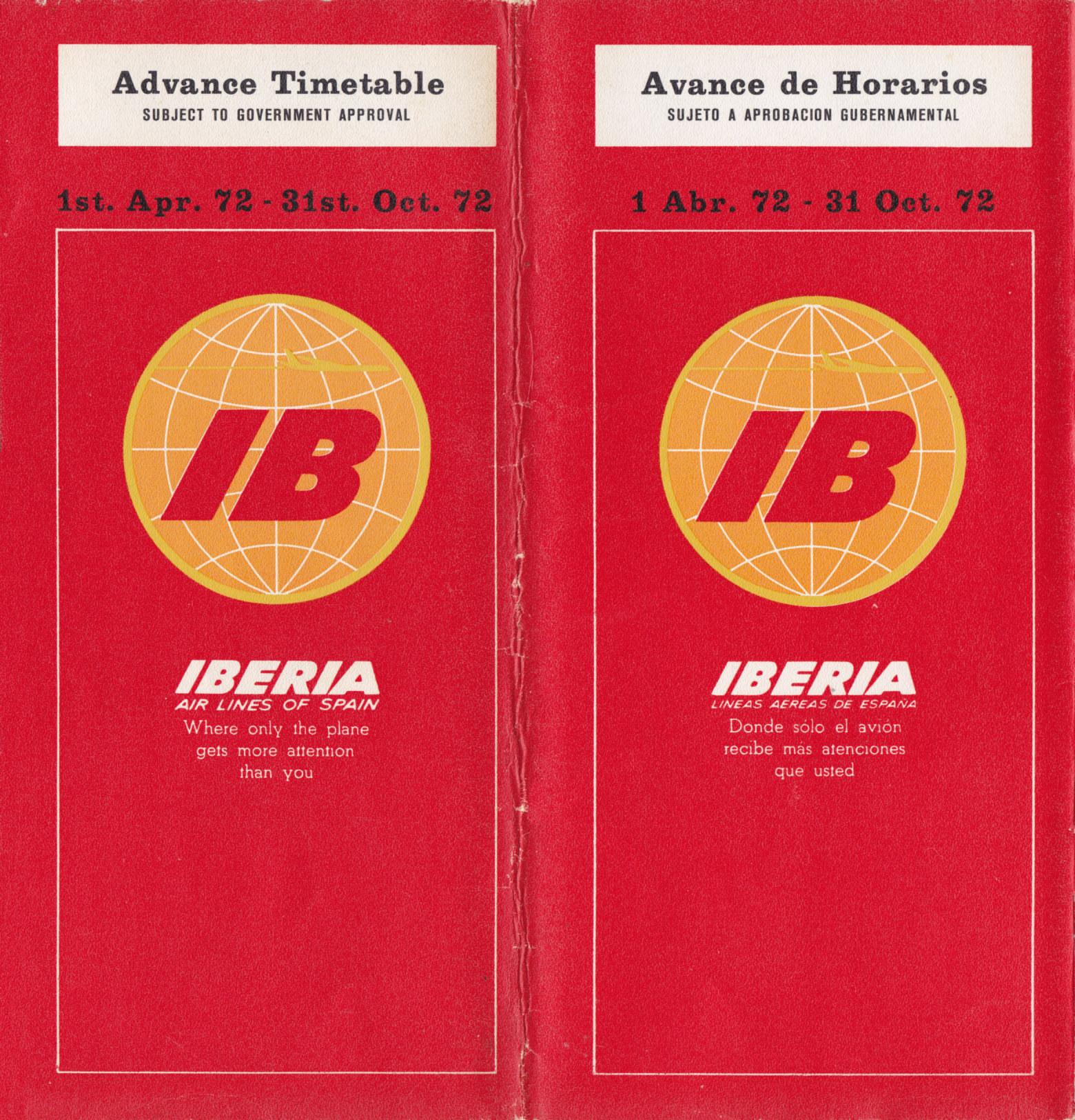 Cuando los horarios y las tarifas de Iberia eran de papel
