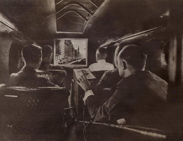 Aeromarine in-flight movie, 1921