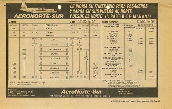 Aeronor Chile - AeroNorte-Sur