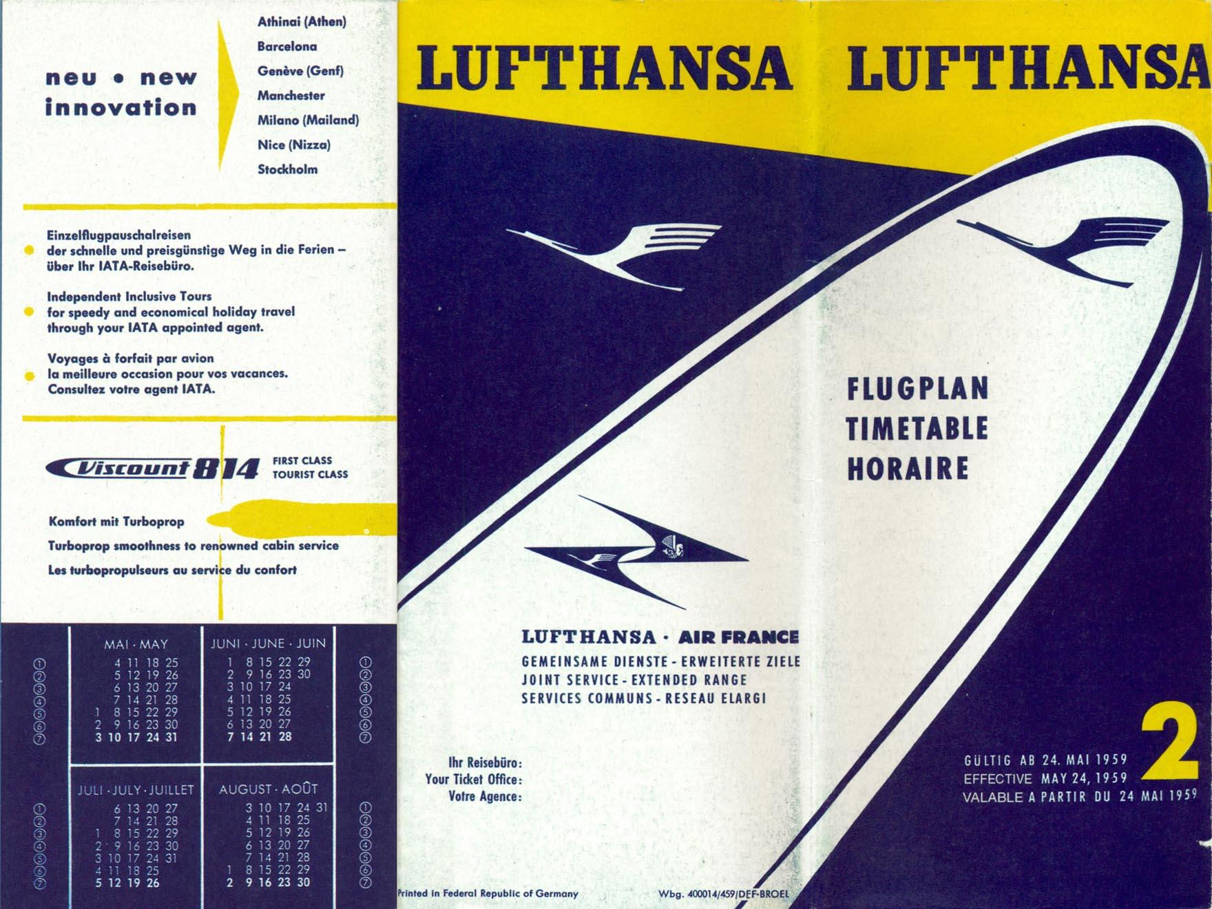 Flugplan Lh